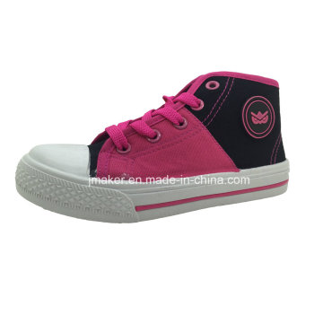 Asian Girls High Top Injection Canvas Shoe (X165-S&B)