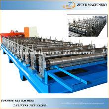 Painel de telhado de aço galvanizado que faz a máquina