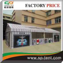 5x30m white small size party tent with curtains