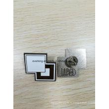 Épinglette en émail faite sur commande bon marché avec le logo en relief