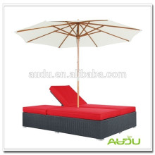 Audu Antique Tropical Classic Home Beach Chair With Sun Canopy