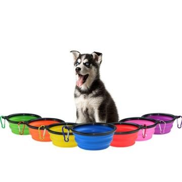 Tigela para cães dobrável e anti-derramamento para cães