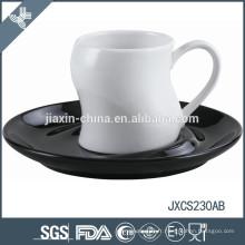 Tasse à café en porcelaine 100CC et soucoupe, tasse et soucoupe colorées