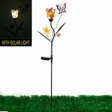 Fantastische Dekoration Metall Schmetterling Solarlighted Garten Stake Handwerk