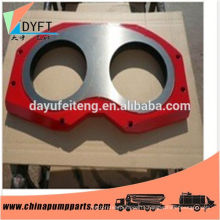 China wear plate for concrete pump parts s valve