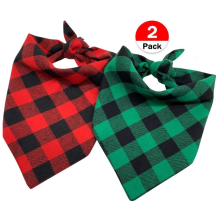Hund Bandana Pet Scarf Classic Plaid