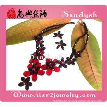 Großhandel handgemachte indische Rubin Halskette Diamant Schmuck