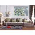 Pfau Frauen Segeltuch-Druck / abstraktes Wohnzimmer Dekoration / dropshipping Ölgemälde Art