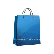 Handle saco de compras de papel Kraft para roupas
