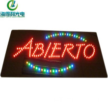 acrylic shining business abierto advertising led signs China