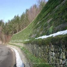 Pared de retención de piedra Cesta de Gavión hexagonal galvanizada