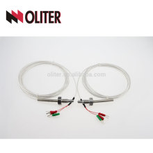 oliter pt100 thermocouple with nuts ptfe/pfa quick disconnect connector rhodium-platinum wire simple connector