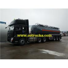 3 ejes de transporte de ácido clorhídrico tanques