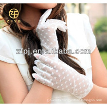 Women's 2016 Short Elegant Lace Wedding Gloves