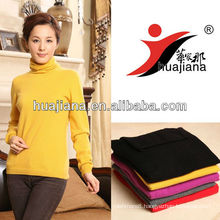 Simple design women's cashmere sweater for winter