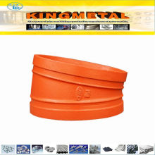 FM/UL Approved Ductile Iron Grooved Pipe Fittings 11.25 Degree Elbow