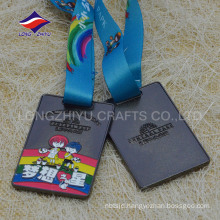Rectangle shape black nickel colour wholesale painting arts medal