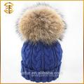Fábrica de suministro directo de lana de punto Pom Pom Winter Beanie Hat