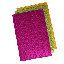 china supplier green embossed heart shape colorful glitter eva craft foam roll