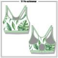 OEM Diseño Personalizado Poliéster Mujer Spandex Sexy Sports Yoga Bra
