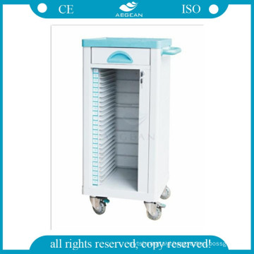 AG-CHT004 medical ABS material patient hospital medical record cart