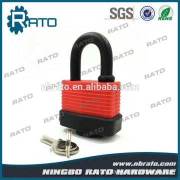 Cheap Iron Rubber Cover Waterproof Padlock