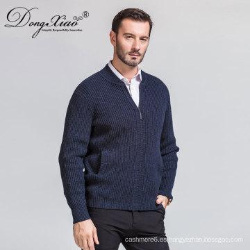 Suéter de punto de lana de cuello alto de hombre invierno 12Gg con moda superventas