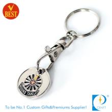 2015 New Style/Design Custom Printed Metal Raised Trolley Coin
