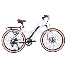 Bicicleta eléctrica de la ciudad del ocio del diseño retro con ebike del motor del eje trasero para la venta