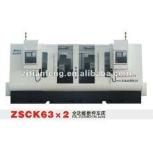 ZHAO SHAN CK-63 * 2 tour CNC tours machine à outils haute performance