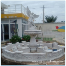 White Marble Religious  Angel Water Fountain