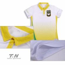 Хлопок / полиэстер на заказ Дешевые полосатые рубашки поло для мужчин
