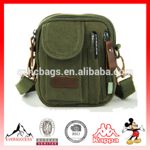 bolso de hombro individual Bolsas de mensajero de lona pequeña para hombre, cartera de tela pequeña para hombre (ES-Z321)