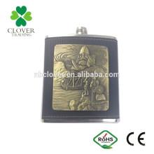 7oz Mini Tipo e Metal Material do corpo novidade vinho frasco de quadril