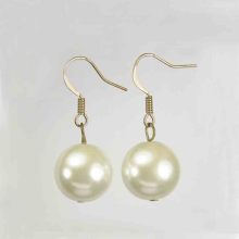 Kualiti Tinggi White Pearl Dangle Earrings