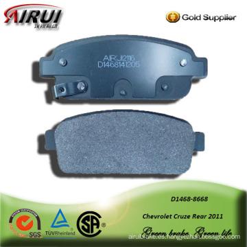 semi-metallic car brake pad for Chevrolet Cruze Rear 2011