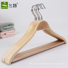 swivel hook laminated wooden clothes hangers