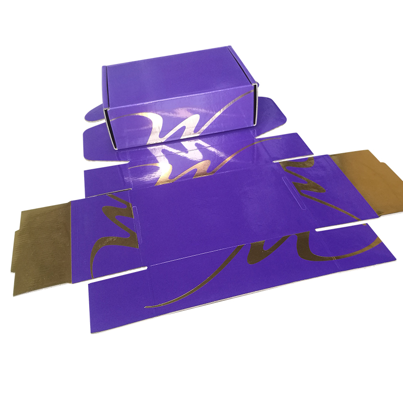 Ukuran Custom Recycle Purple Corrugated Paper Box