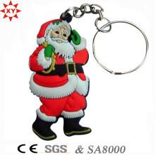 Promoción regalo de Navidad llavero de PVC con llavero