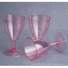 Vidrio de vino plástico de alta calidad desechable
