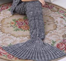 ग्रे मत्स्यस्त्री कंबल वयस्क कंबल मछली पूंछ कंबल