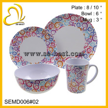 wholesale 16 pieces melamine dinnerware set