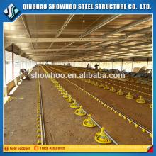 Estructura de acero de bajo costo de diseño de la capa de pollo Casa Aves de corral para la venta
