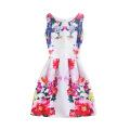 Vente chaude Bébé Fille D'été Imprimé Sans Manches Robes Robes Enfants Robes Fleur Fille Enfant Robe