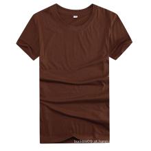 Camisas 100% do algodão em branco liso barato relativo à promoção