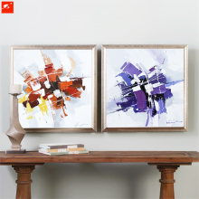Handmade Wall Art Abstract Oil Painting with Frame