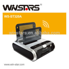 USB 2.0 Docking station With USB2.0 2 Port Hub, Support 2TB X 2 SATA HDD