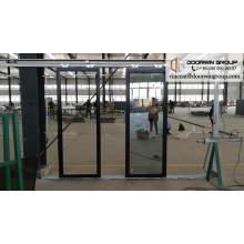 Bisagra de puerta de aluminio de doble hoja pivotante