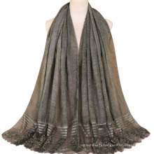 TINGYU en gros de mode plaine couleur femmes musulman écharpe Hijab