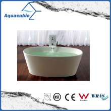Bathroom Oval Solid Surface Freestanding Bathtub (AB6504)